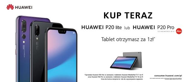 Huawei P20 Pro lub Huawei P20 lite tablet za 1 zł