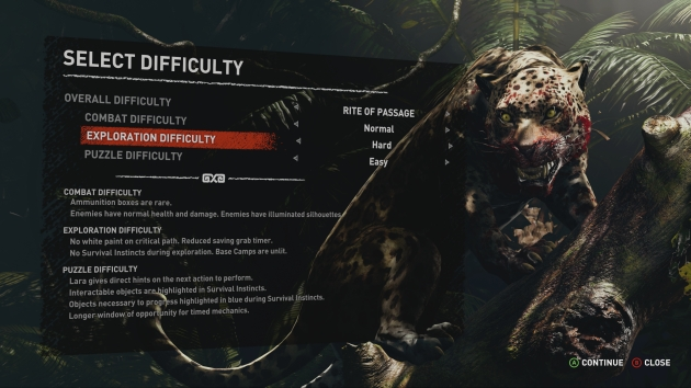 Shadow of the Tomb Raider poziom trudności