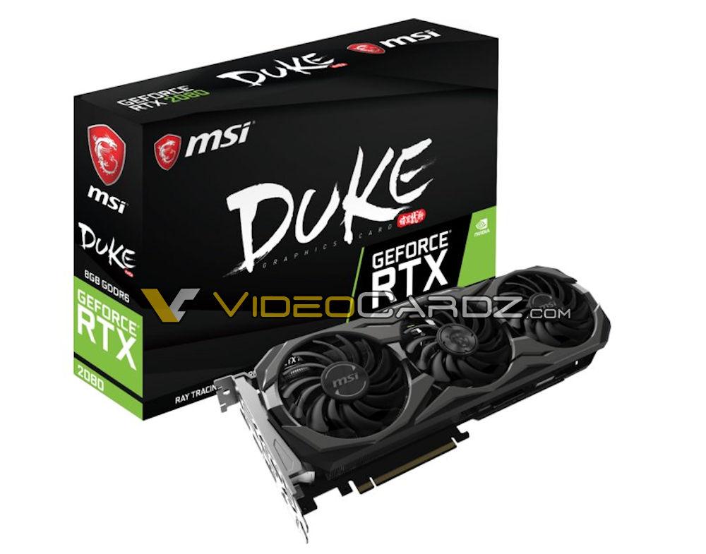 MSI GeForce RTX 2080 Duke