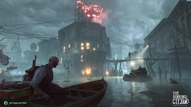 The Sinking City - pływanie łódką