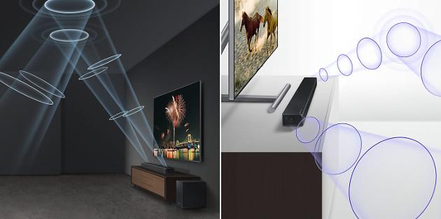 Samsung soundbar przestrzeń