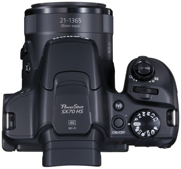 Canon Powershot SX70 HS góra