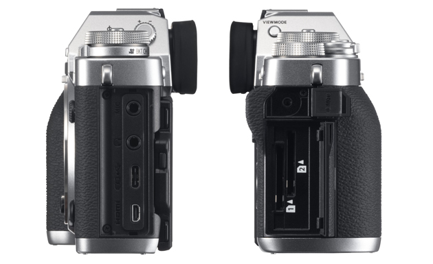 Fujifilm X-T3 złącza, sloty SD