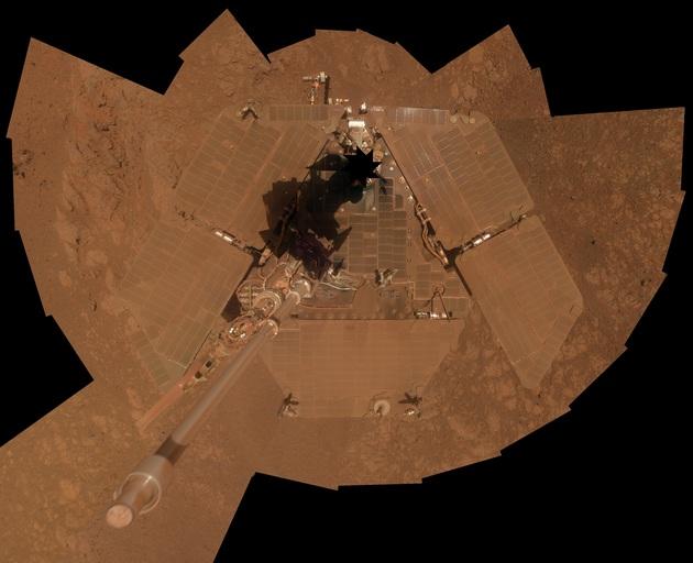 Łazik Opportunity po burzy pyłowej w 2014 roku