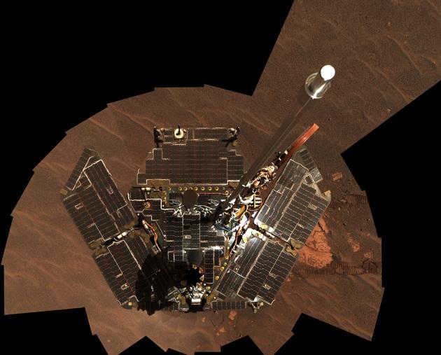 Łazik Opportunity czyste panel słoneczne w 2005 roku