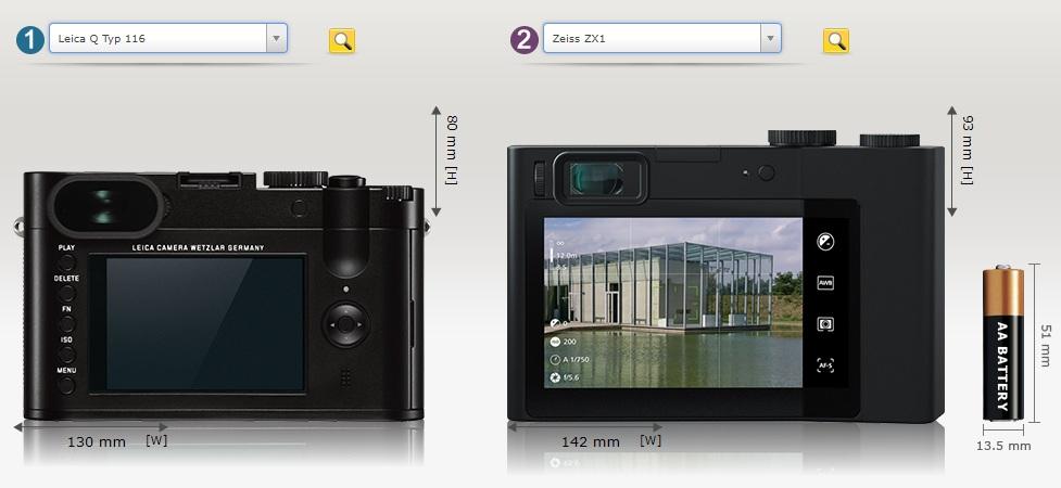 Leica Q Zeiss ZX1 tył