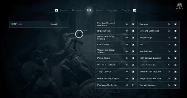 Assassin's Creed Odyssey HUD