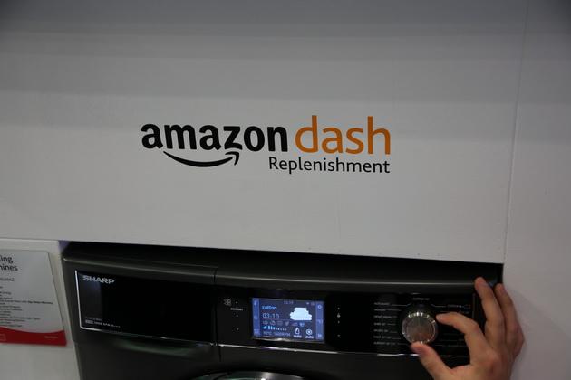 Sharp AGD - pralka z Amazon Dash Replenishment
