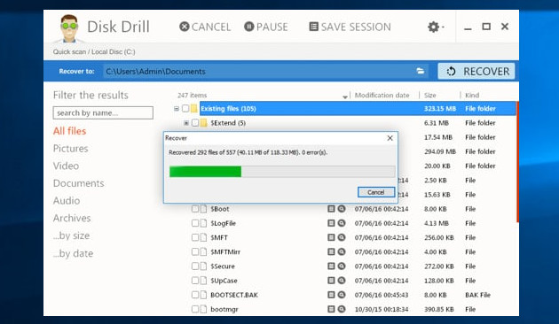 Disk Drill Free screen