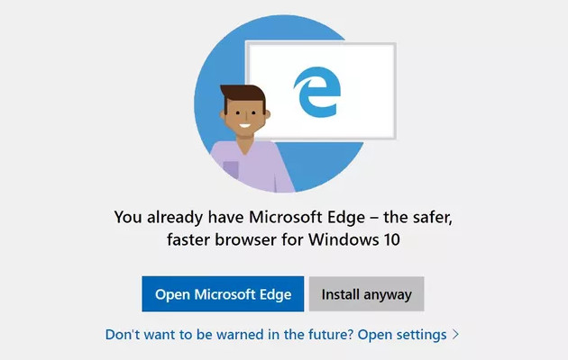 Windows 10 Edge info