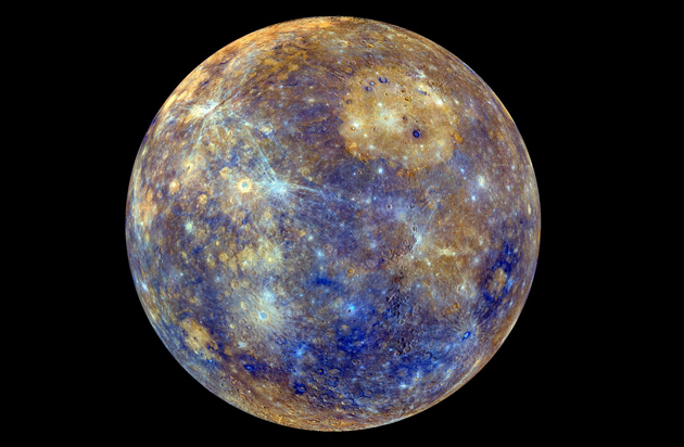 Merkury skład chemiczny powierzchni