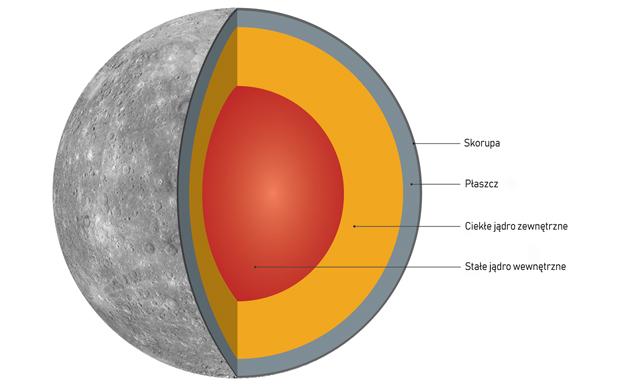 Merkury budowa wewnętrzna