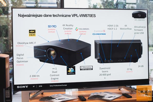 Sony VPL-VW870ES parametry
