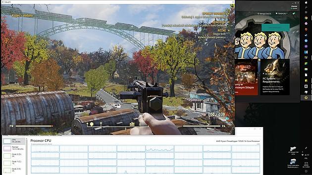 Fallout 76 - obciążenie CPU