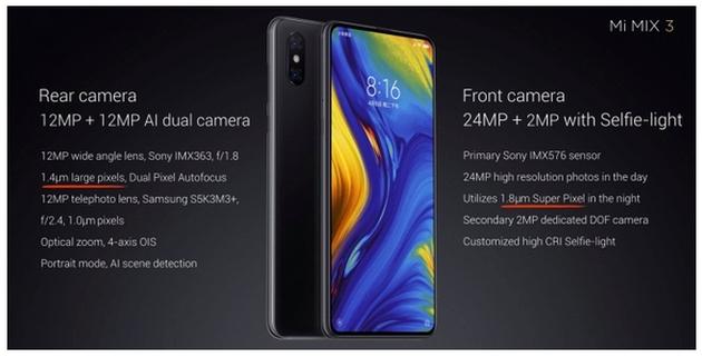 Xiaomi Mi Mix 3 aparat