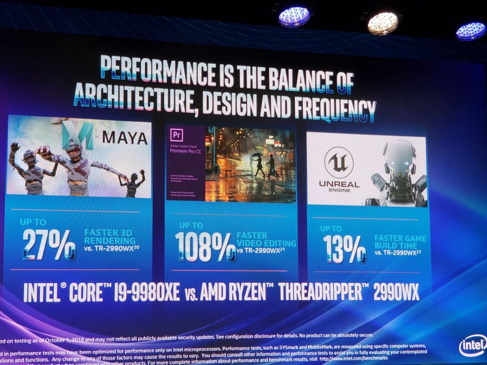 Intel Core i9-9980XE vs AMD Ryzen Threadripper 2990WX
