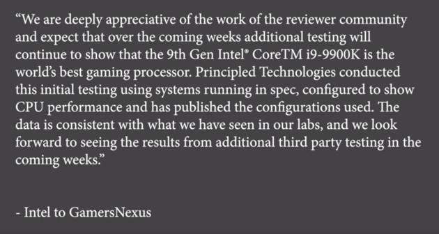 Intel oświadczenie
