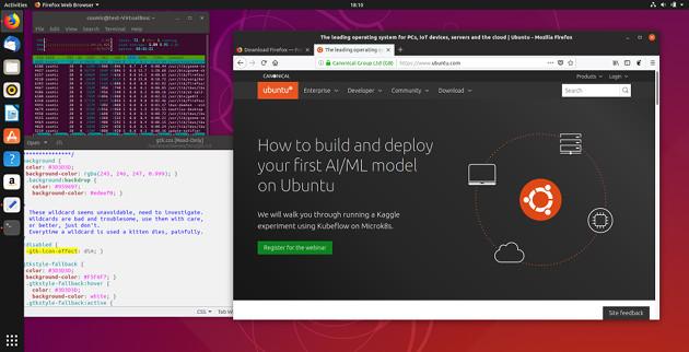 Ubuntu 18.10 screen