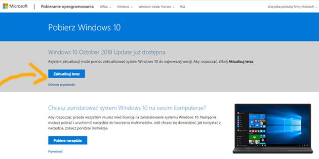 Windows 10 1809 aktualizacja