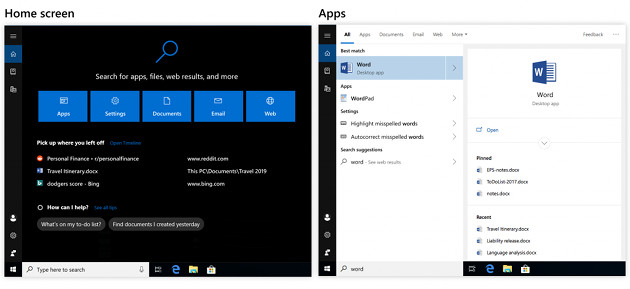 Windows 10 1809 wyszukiwarka