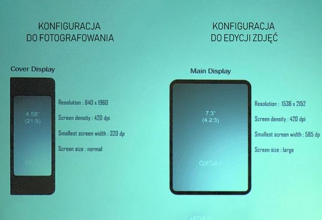 Smartfon składany - konfiguracje robocze