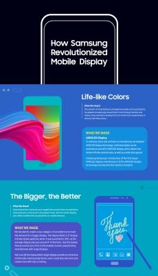 Samsung ekrany infografika