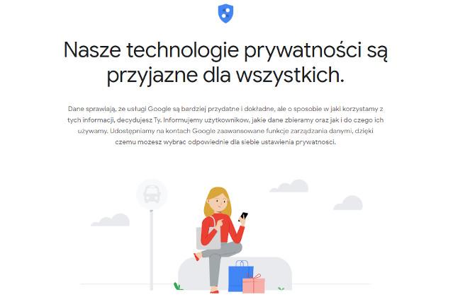 Centrum Bezpieczeństwa Google prywatność
