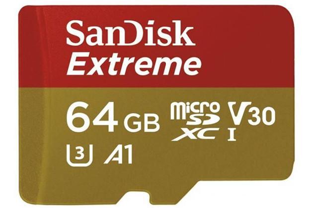 SanDisk microSDXC 64GB Extreme U3 V30 UHS-I A1 Mobile.