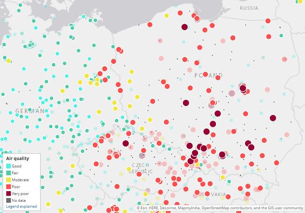 smog mapa