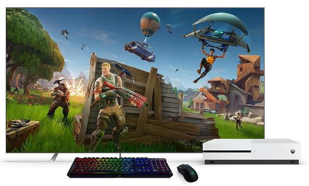 Xbox klawiatura mysz