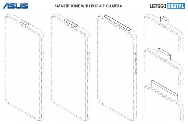 Asus smartfon wysuwany aparat patent