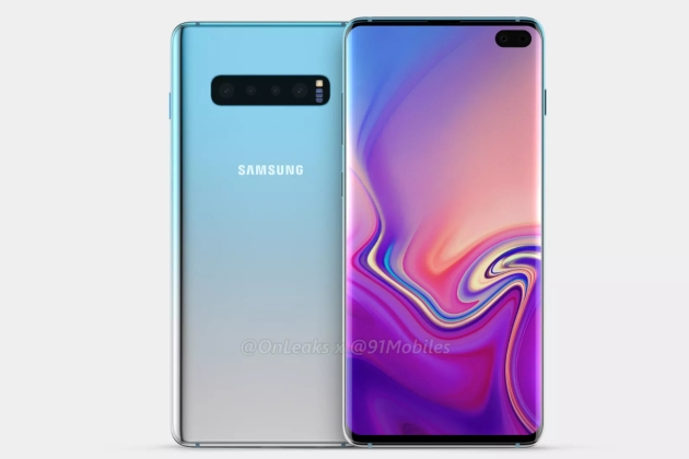 Galaxy S10+ smartfon render