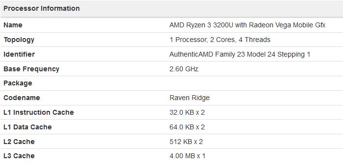 AMD Ryzen 3 3200U