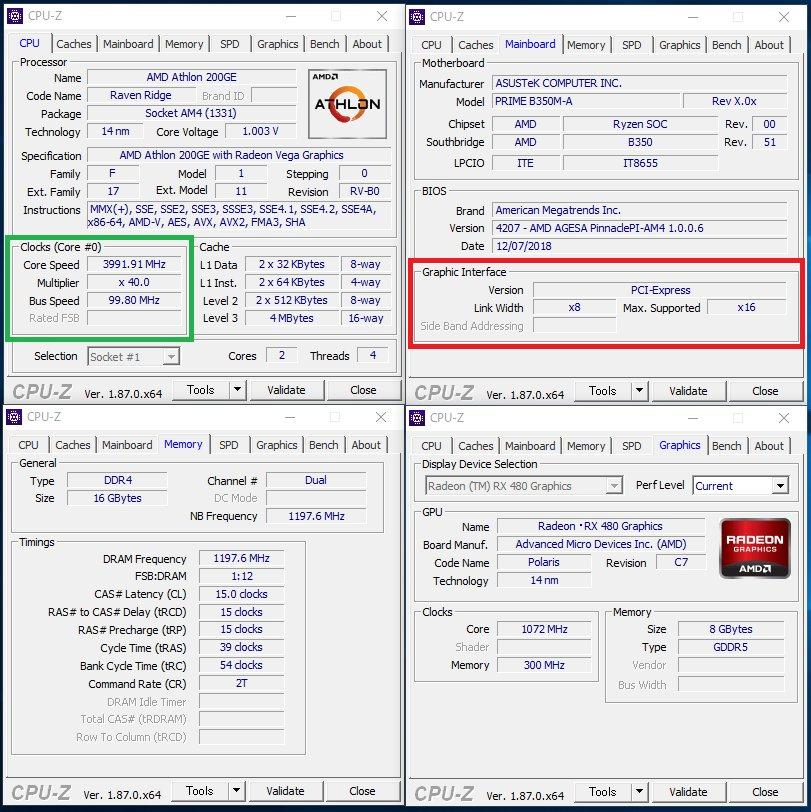 ASUS - podkręcanie procesora Athlon 200GE
