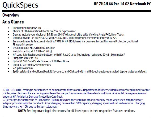 HP Zahn 66 Pro 14 G2