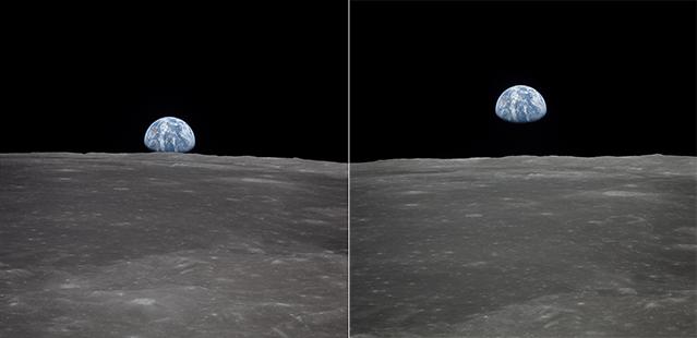 Apollo 11 wschód Ziemi
