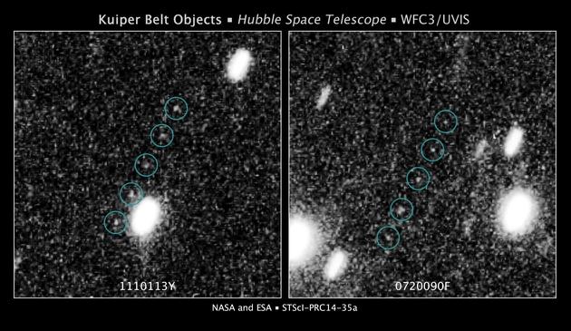 Obiekty Kuiper Belt - Hubble 2014