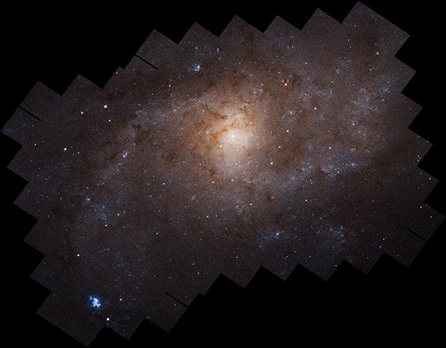 M33 mozaika