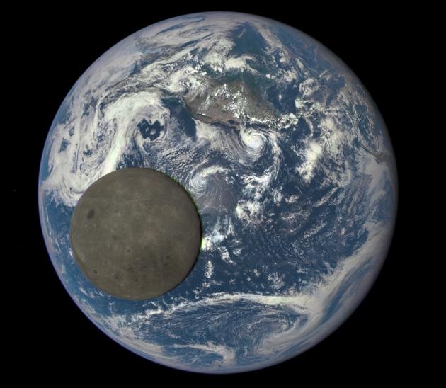 Nów Księżyca od drugiej strony