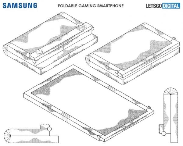 Składany smartfon do gier Samsung patent
