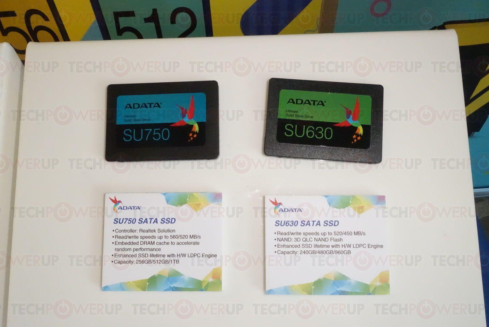 ADATA Ultimate SU750 i SU630