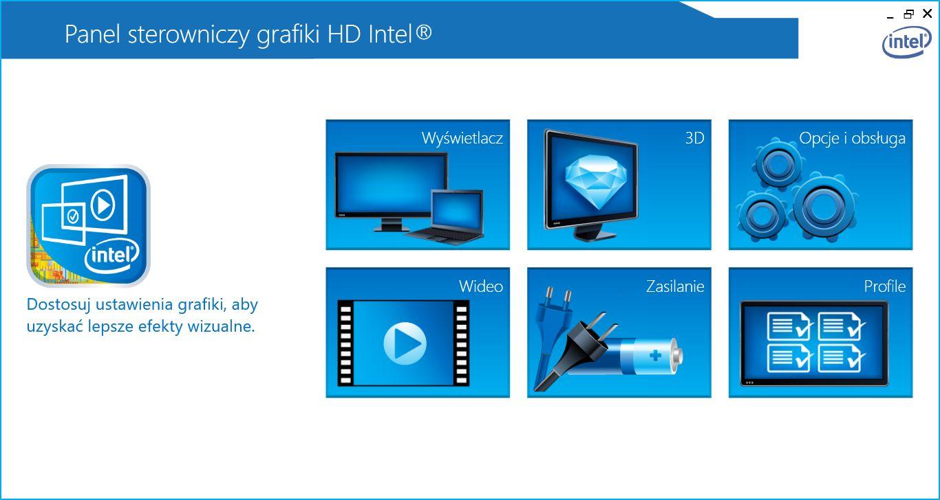 Intel - panel sterowania grafiki