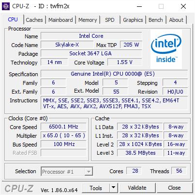 Intel Xeon W-3175X podkręcanie