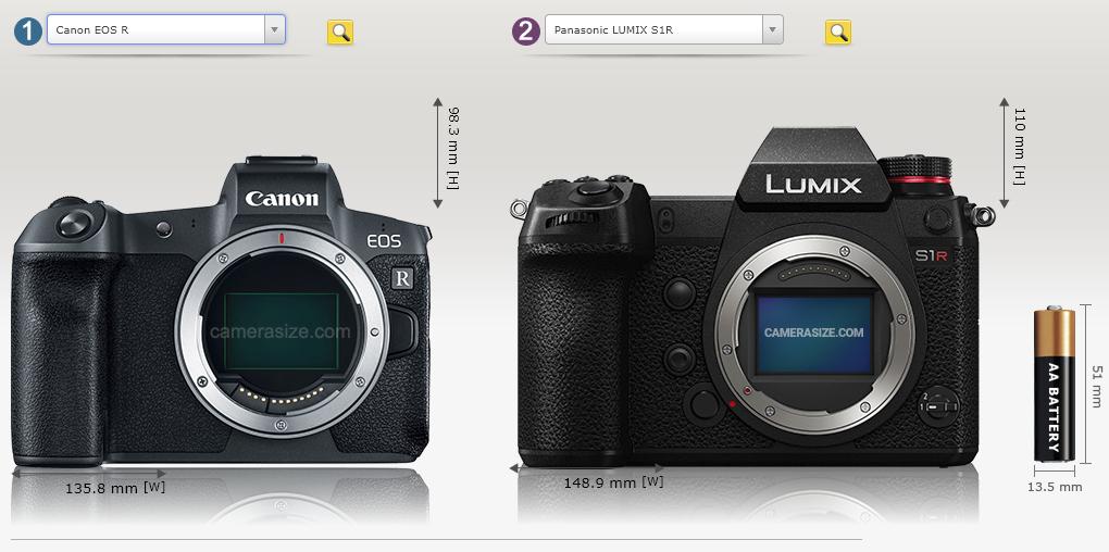 Canon EOS R i Panasonic Lumix S1R