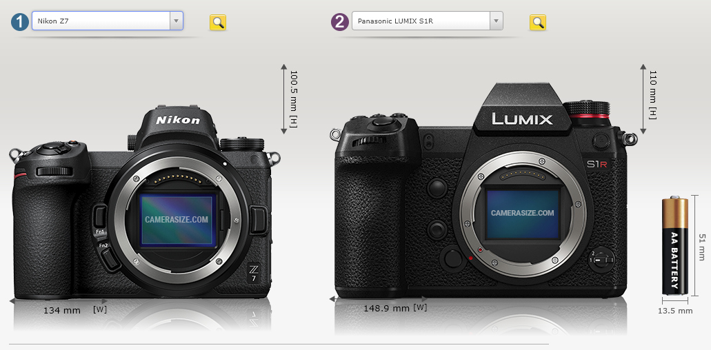 Nikon Z 7 i Panasonic S1R