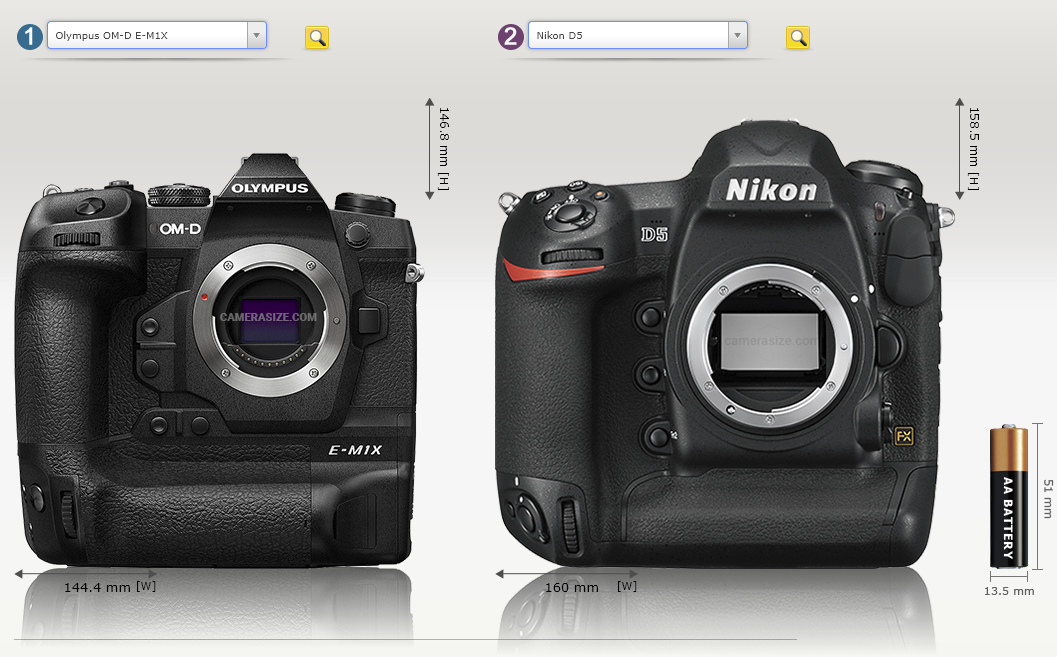 Olympus OM-D E-M1 i Nikon D5