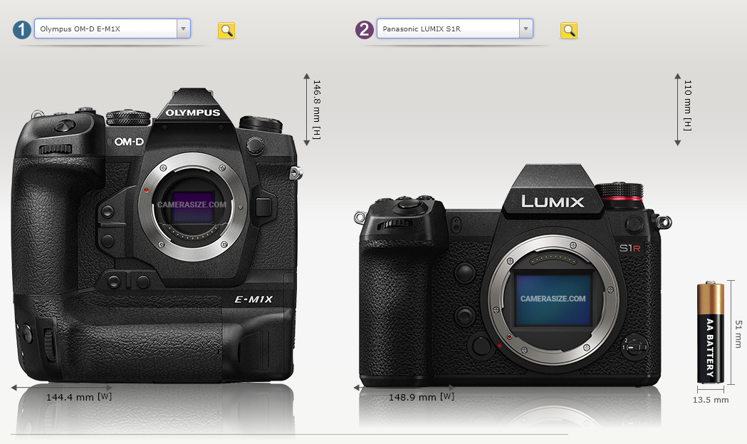 Olympus OM-D E-M1X i Panasonic Lumix S1R