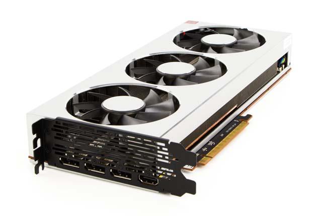 AMD Radeon VII - rzut izo