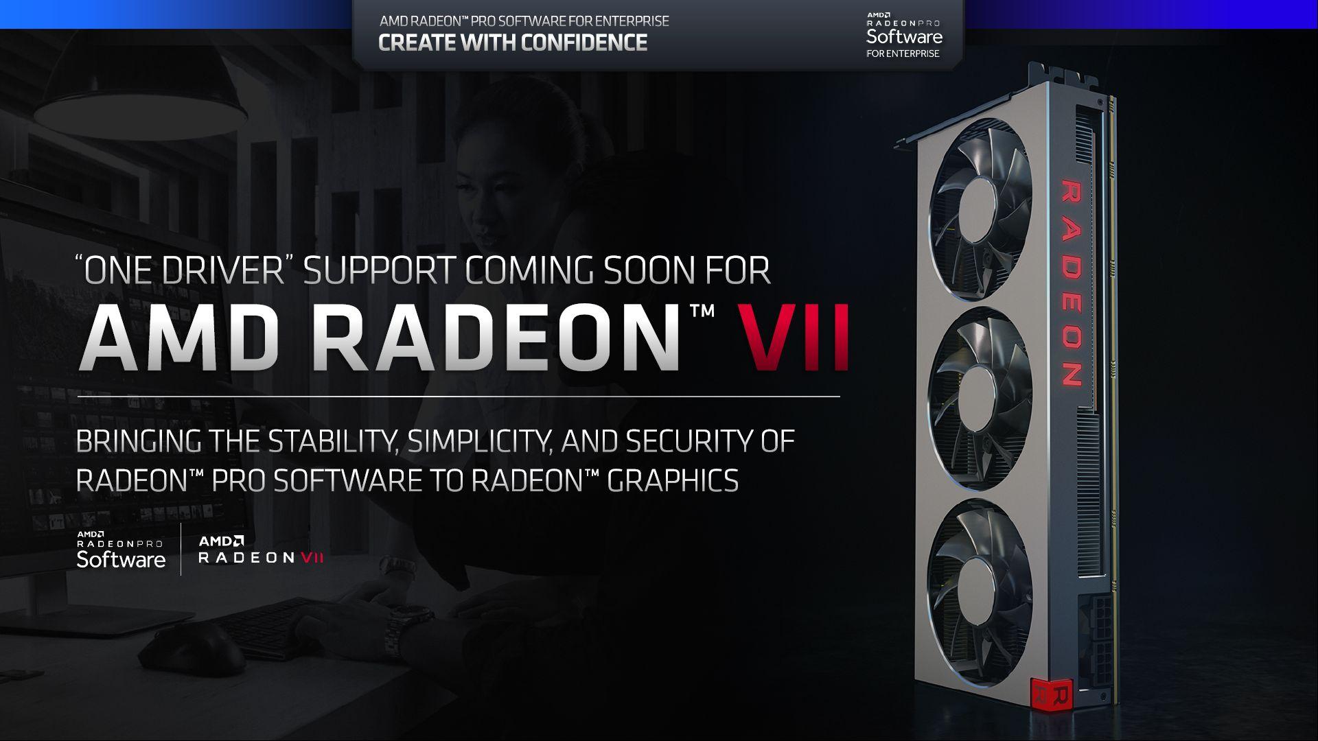 AMD Radeon VII - wsparcie dla Radeon Pro Software