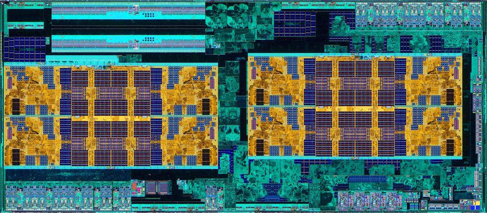 AMD Ryzen 5 2600 pod mikroskopem - zdjęcia krzemowego jądra Zen+